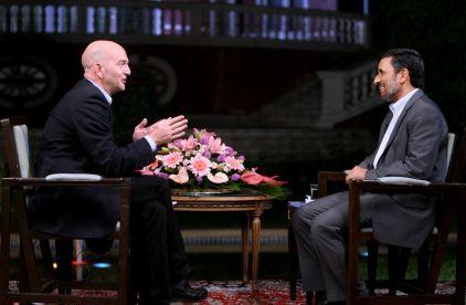 فیلم مصاحبه زنده تلویزیونی دکتر محمود احمدی نژاد با شبکه یورونیوز